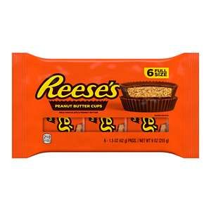 REESE'S Peanut Butter Cups 6-pack, 9 oz