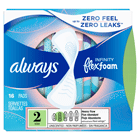 Always Infinity Size 2 Super Pads with Wings, Unscented