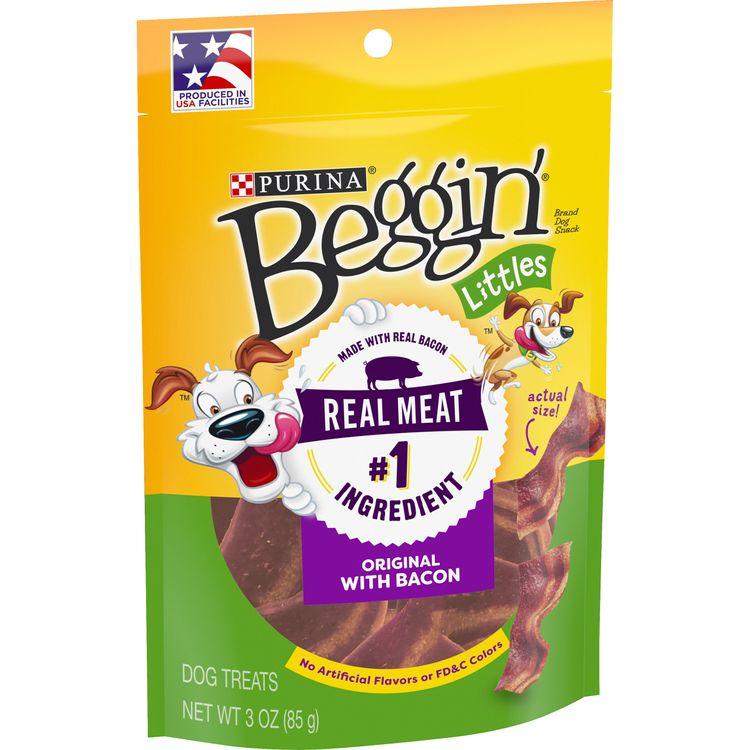 Purina Beggin' Made in USA Facilities Dog Treats; Littles Bacon Flavor