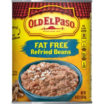 Old El Paso Fat Free Refried Beans, 16 oz