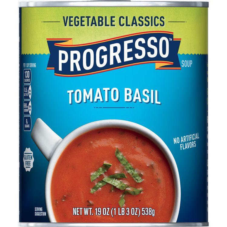 Progresso Soup, Vegetable Classics, Tomato Basil Soup, 19 oz Can