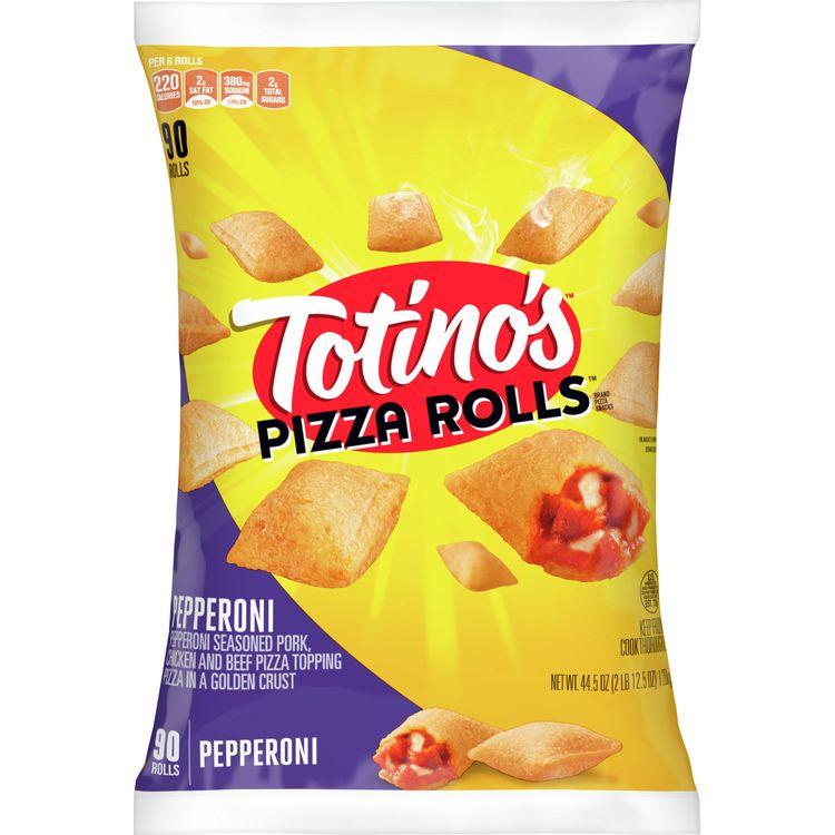 Totino's Pizza Rolls, Pepperoni, 90 Rolls, 44.5 oz Bag