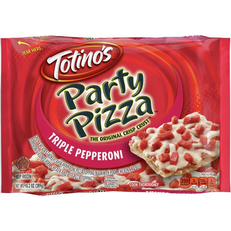 Totino's Triple Pepperoni Party Pizza, 10.2 oz