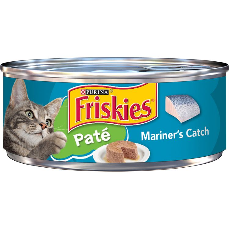 Purina Friskies Pate Wet Cat Food, Mariner's Catch - 5.5 oz. Can