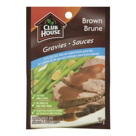 Club House Brown 25% Less Salt Gravy Mix