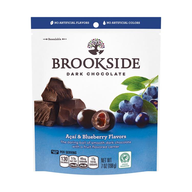 BROOKSIDE Dark Chocolate Açai and Blueberry Flavors, 7 oz