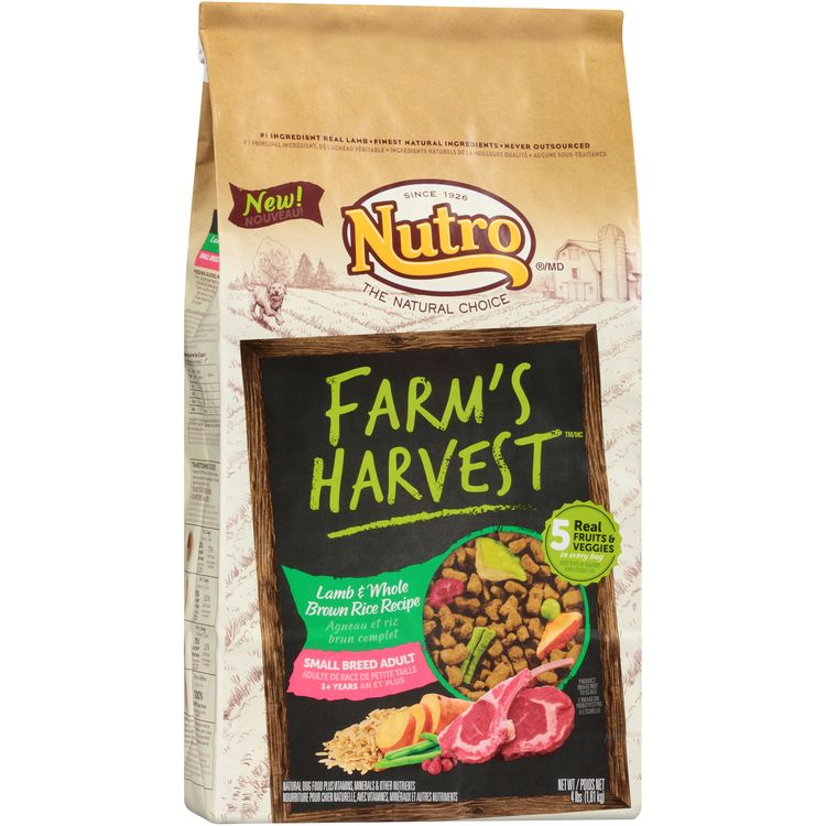 Nutro® Farm's Harvest™ Small Breed Adult Lamb & Whole Brown Rice Recipe Dog Food