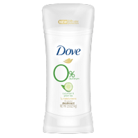 Dove 0% Aluminum Deodorant Cucumber and Green Tea