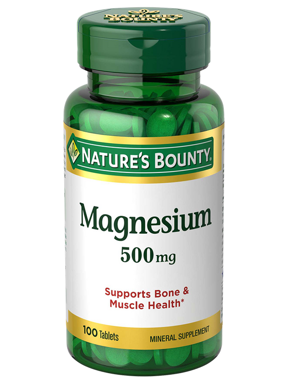Natures Bounty Magnesium 500 mg 100