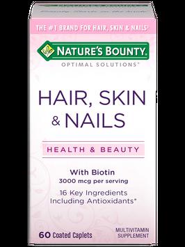 Natures Bounty Hair Skin & Nails 3,000 mcg of Biotin 60