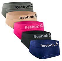 Grey/Rose/Berry/Blue/Black XL Reebok 5Pk Hipster