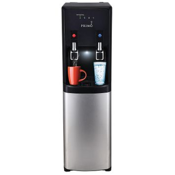 Primo Pro-Plus Bottom-Load Hot and Cold Water Dispenser with Self-Sanitization, Black/Stainless Steel