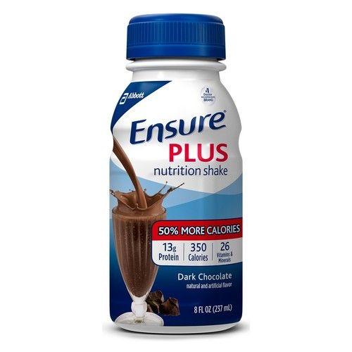 Ensure Plus Nutrition Shakes, Dark Chocolate, 8 oz Bottles - Pack of 6