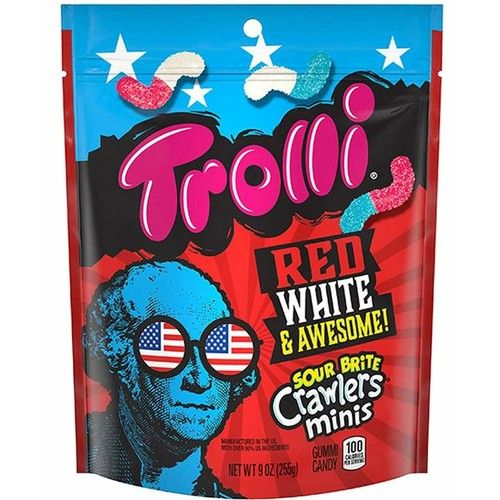 Trolli Red White & Awesome Sour Brite Crawlers Minis
