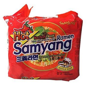 Samyang Korean Ramen Family Pack (Hot, 1 Bundle)