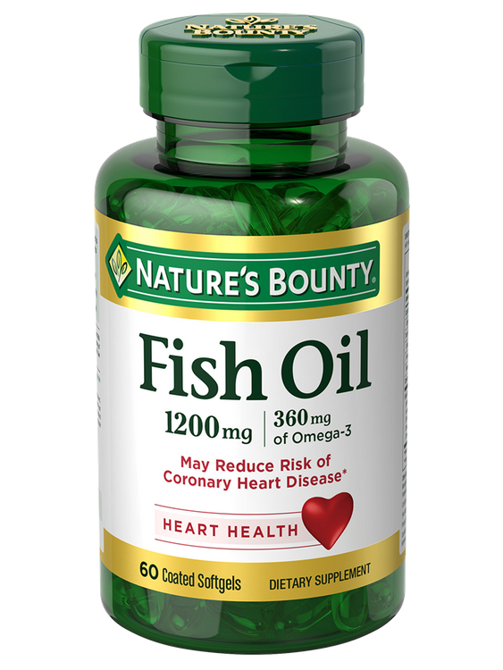 Natures Bounty Fish Oil 1,200 mg 60