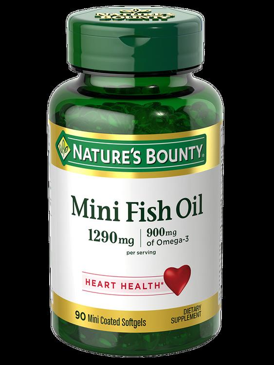 Natures Bounty Mini Fish Oil 1290 mg Per Serving 90
