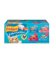 Friskies Fish a Licious Wet Cat Food Variety Pack 32 Count