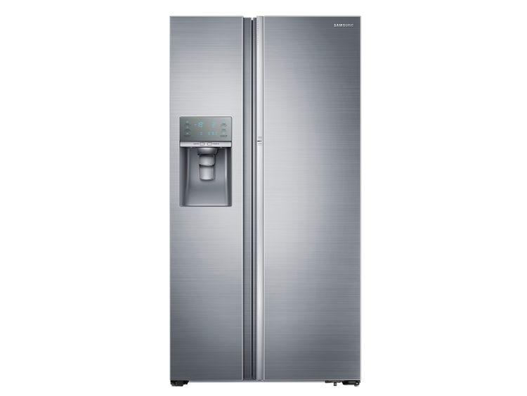 Samsung 22 cu. ft. Food Showcase Counter Depth Side-by-Side Refrigerator with Metal Cooling in Stainless Steel