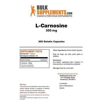 BulkSupplements Pure L-Carnosine