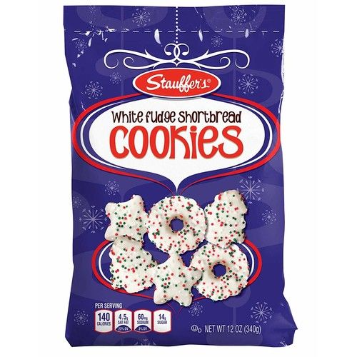Stauffer's Holiday Cookies, 12 oz. Bags (Set of 2) (White Fudge Shortbread)