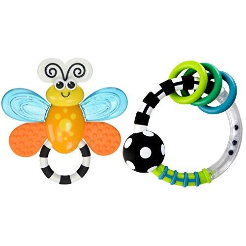 Sassy Flutterby Teether with Rattlin Rings