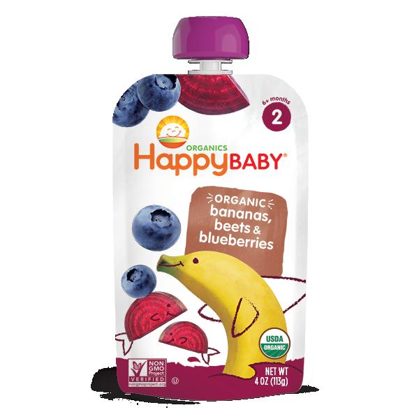 Happy Baby® Organics Bananas, Beets & Blueberries