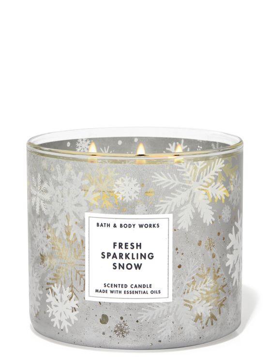 Bath & Body Works Fresh Sparkling Snow 3-Wick Candle