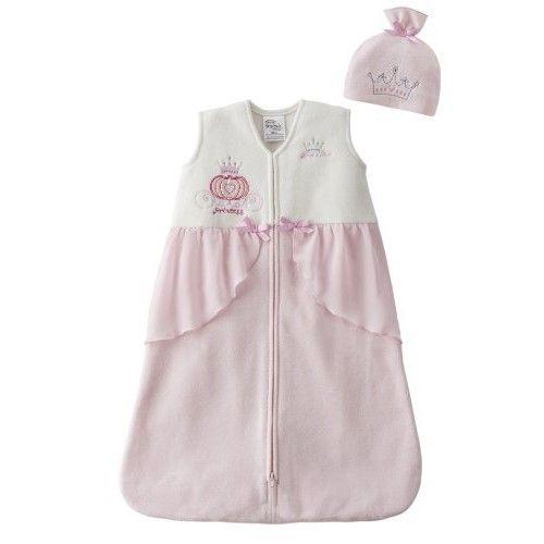 HALO SleepSack Micro-Fleece Disney Wearable Blanket, Princess with Hat, Small