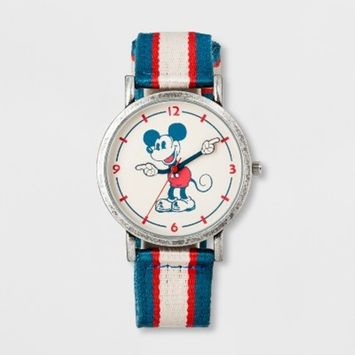 Boys' Disney Mickey Mouse Watch - Blue/White/Red