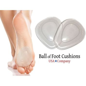 Ball of Foot Cushions/2018 Updated 1Pair Forefoot Pain Relief Foot Pads/Metatarsal Pads for Women/Men/Runners/Diabetics/Use for Heel Pads! Ball of Foot Inserts Stick In Shoe/Great Gift Idea!