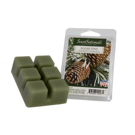ScentSationals 2.5 oz Sugar Pine Scented Fragrant Wax Melts - 6 Scented Wax Cubes