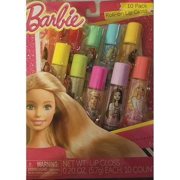 Barbie 10 Pack Roll-on Lip Gloss