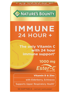 Natures Bounty Immune 24 Hour + 1,000 mg Ester-C , 50 Softgels