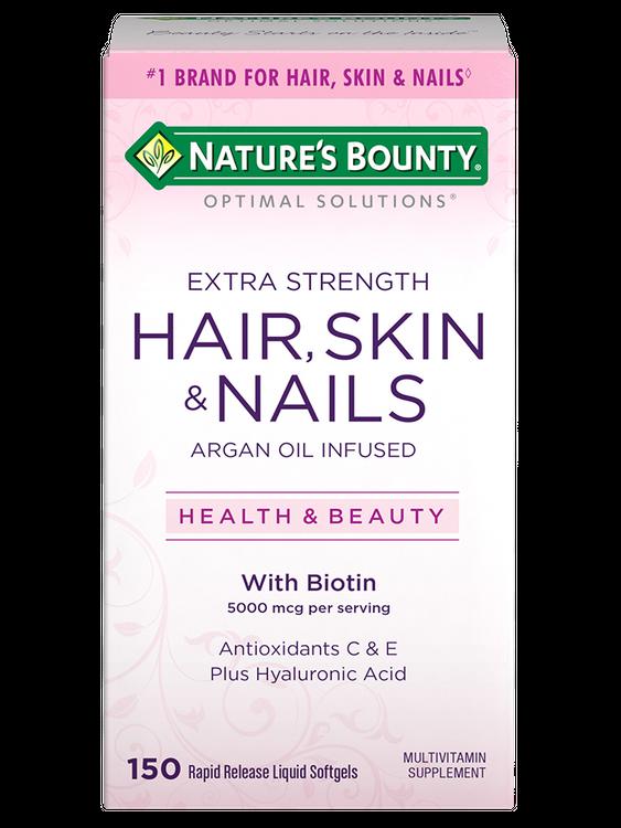 Natures Bounty Extra Strength Hair Skin & Nails 5,000 mcg of Biotin 150