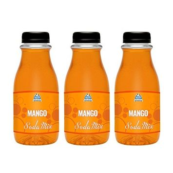 Ralph's Mango Syrup Flavor Sodamix Three Pack   12oz Bottles