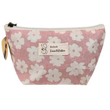 Lookatool Portable Travel Cosmetic Bag Makeup Case Pouch Toiletry Wash Organizer (Pink)