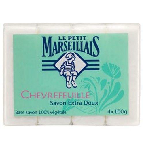 Le Petit Marseillais Bath and Body 4 Soaps (4 Barsx100g=400g) (Chevrefeuille)