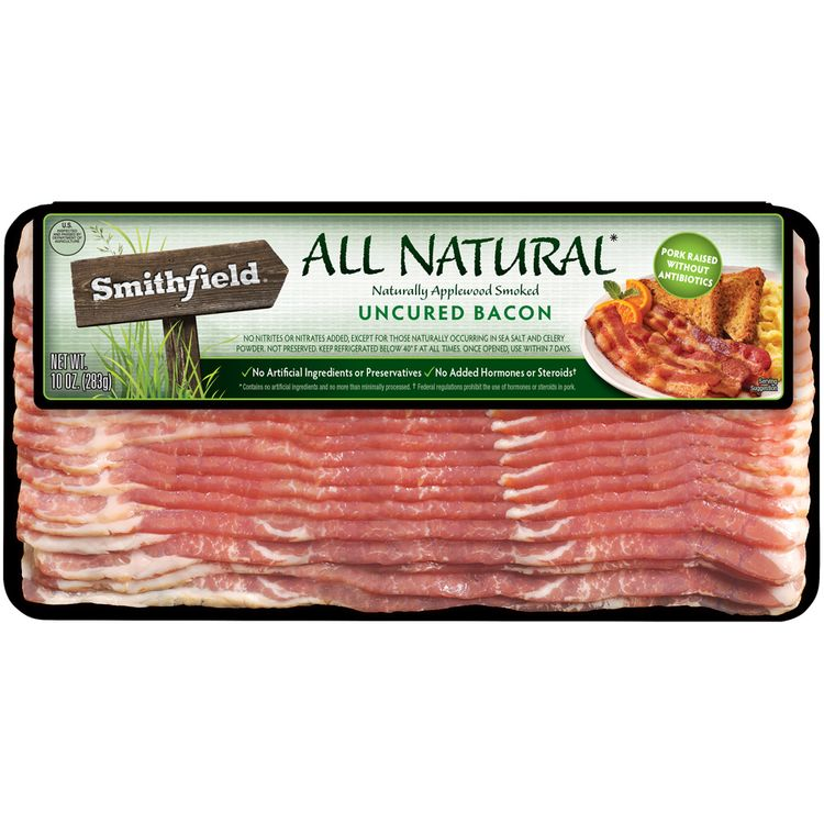 Smithfield® All Natural Naturally Applewood Smoked Uncured Bacon