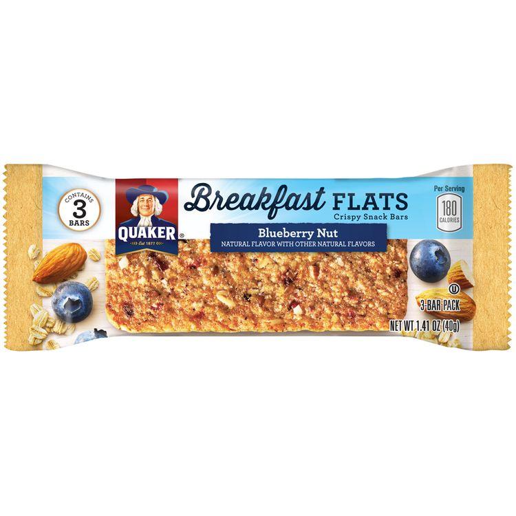 Quaker® Breakfast Flats Blueberry Nut Crispy Snack Bars