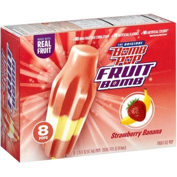Bomb Pop® Fruit Bomb™Strawberry Banana Fruit Ice Pop 8 ct Box