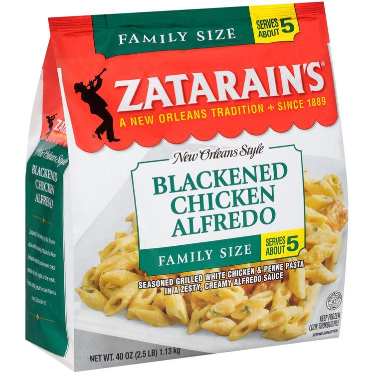 zatarain's® family size frozen blackened chicken alfredo