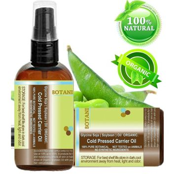 Botanical Beauty ORGANIC SOYBEAN OIL 100% Pure. For Face, Hair and Body. 2 Fl. oz- 60ml.