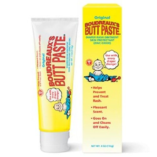 Boudreaux's Butt Paste, Diaper Rash Ointment, Tube 4 oz [113 g] [Pack of 2]