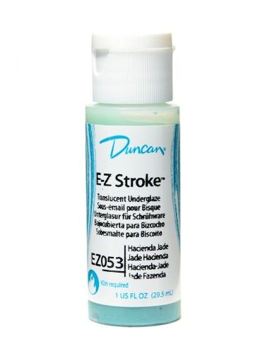 Duncan E-Z Stroke Translucent Underglaze hacienda jade, 1 oz. [pack of 4]