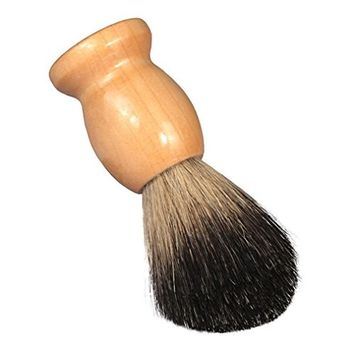 Men's Shaving Brushes, Bestpriceam 100% Pure Badger Shaving Brush-Wood handle- Engineered for the Best Shave of Your Life (Beige A)