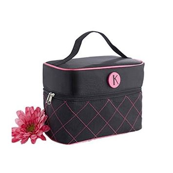''The Cosmopolitan'' Monogrammed Cosmetic Travel Bag