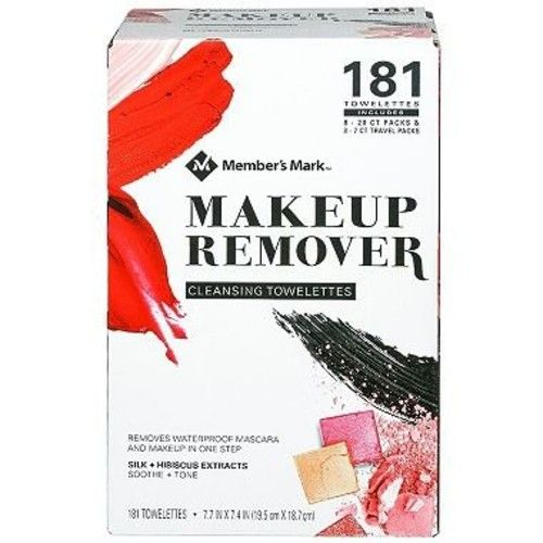Member's Mark Makeup Remover Cleansing Towelettes 181 ct. (pack of 4) A1