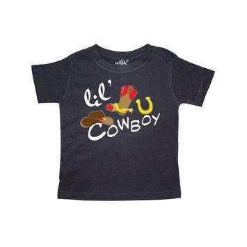 Lil' Cowboy Toddler T-Shirt [name: actual_color value: actual_color-black]