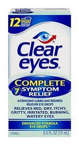 Clear Eyes Complete 7 Symptom Relief Enhanced Formula Eye Drops